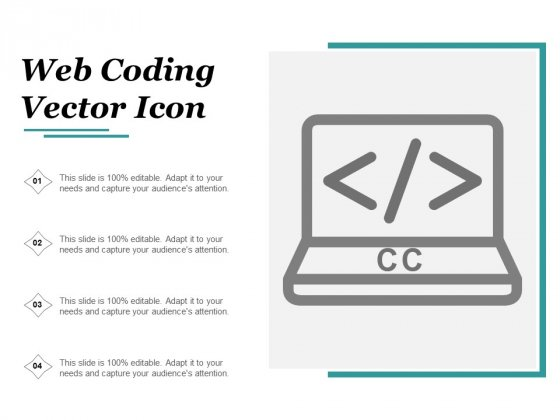 Web Coding Vector Icon Ppt PowerPoint Presentation Layouts Guide