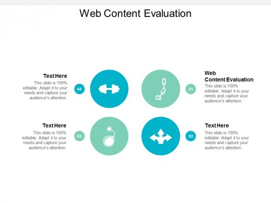 Web Content Evaluation Ppt PowerPoint Presentation Outline Template Cpb