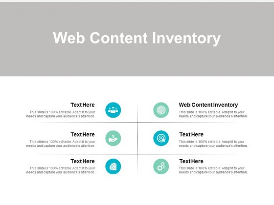 Web Content Inventory Ppt PowerPoint Presentation File Template Cpb