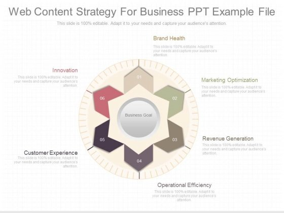 Web Content Strategy For Business Ppt Example File