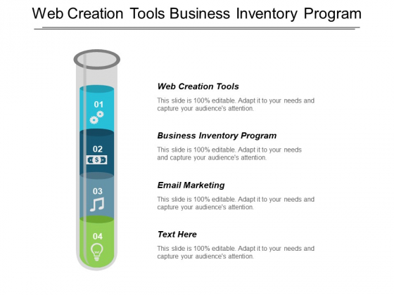 Web Creation Tools Business Inventory Program Email Marketing Ppt PowerPoint Presentation Layouts Visuals
