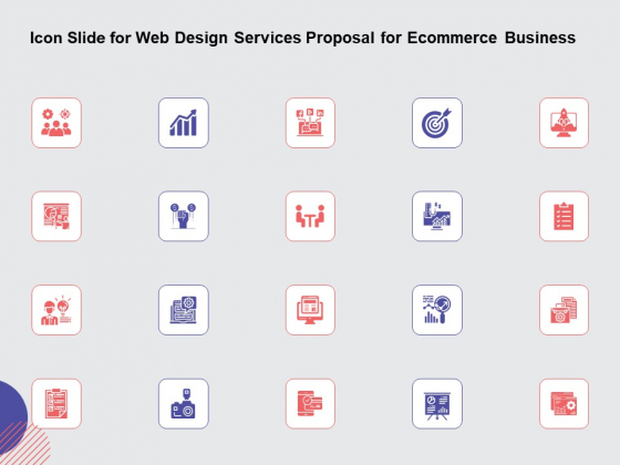 Web Design Services Ecommerce Busines Icon Slide For Web Design Services Proposal For Ecommerce Business Demonstration PDF