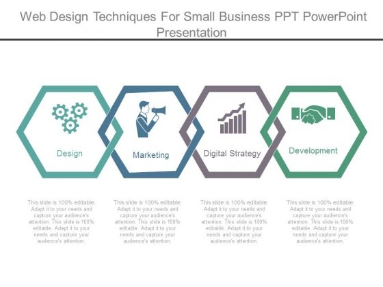 Web Design Techniques For Small Business Ppt Powerpoint Presentation