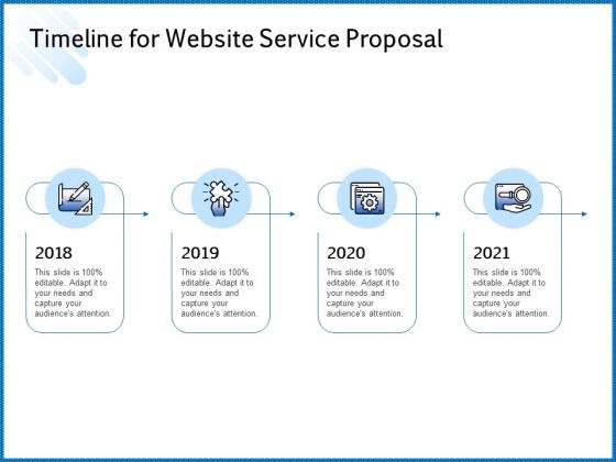 Web Design Template Timeline For Website Service Proposal Infographics PDF