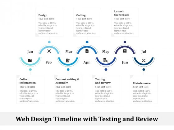 Web Design Timeline With Testing And Review Ppt PowerPoint Presentation File Styles PDF