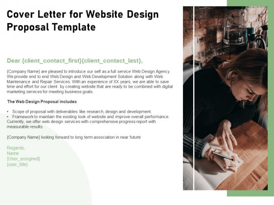 Web Designing Cover Letter For Website Design Proposal Template Ppt Professional Guidelines Pdf Powerpoint Templates