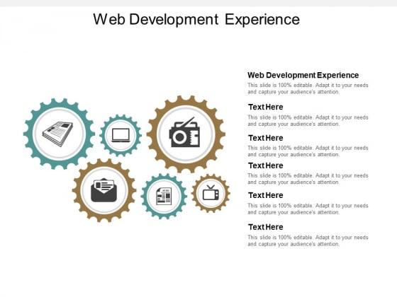 Web Development Experience Ppt PowerPoint Presentation Outline Portfolio Cpb