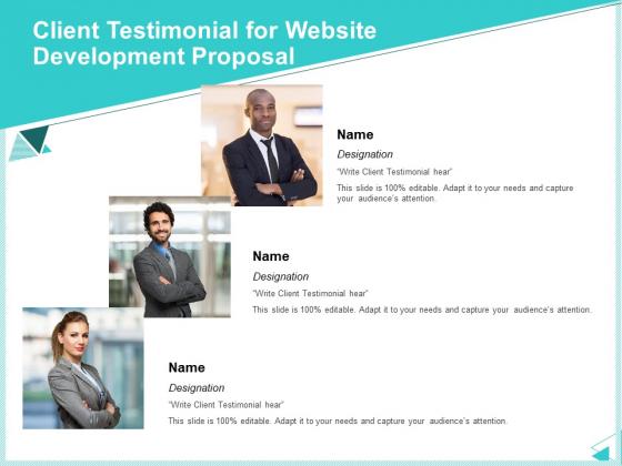 Web Development IT And Design Templates Client Testimonial For Website Development Proposal Designs PDF