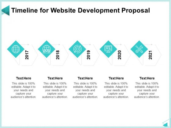 Web Development IT And Design Templates Timeline For Website Development Proposal Portrait PDF