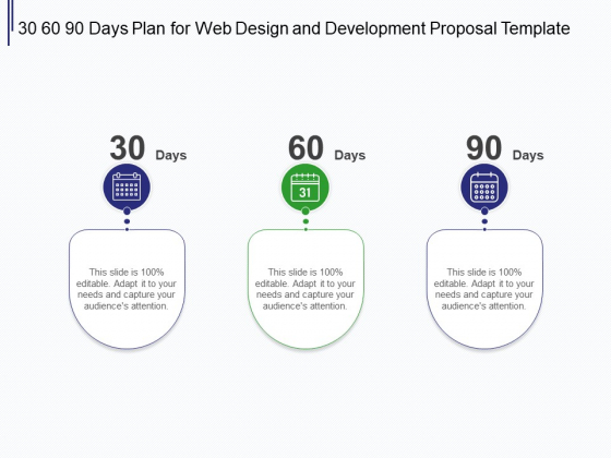 Web Development It And Design 30 60 90 Days Plan For Web Design And Development Ppt Ideas Influencers Pdf Powerpoint Templates