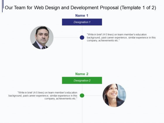 Web Development It And Design Our Team For Web Design And Development Ppt Information Pdf Powerpoint Templates