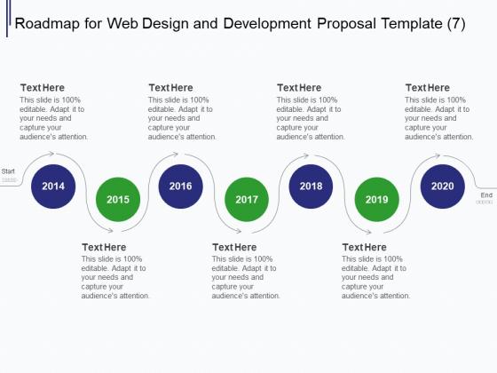 Web Development It And Design Roadmap For Web Design And Development 2014 To 2020 Ppt Professional Format Ideas PDF