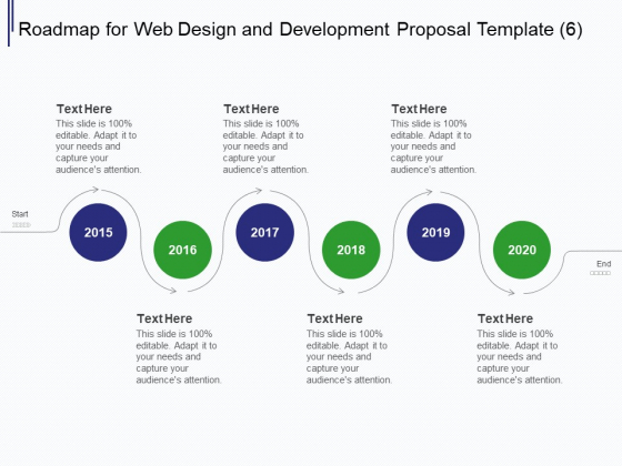 Web Development It And Design Roadmap For Web Design And Development 2015 To 2020 Ppt Infographics Background Designs PDF