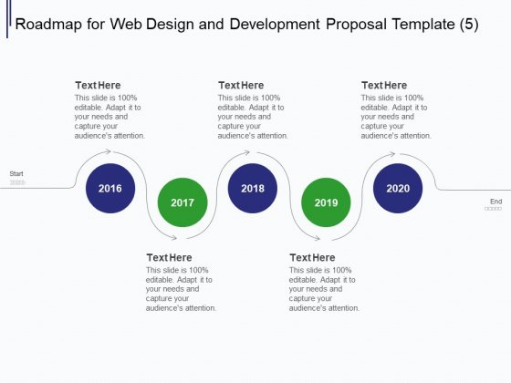 Web Development It And Design Roadmap For Web Design And Development 2016 To 2020 Ppt Professional Summary PDF