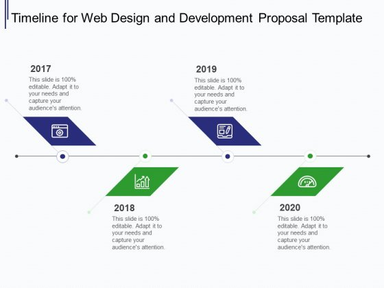 Web Development It And Design Timeline For Web Design And Development Ppt Model Visuals Pdf Powerpoint Templates