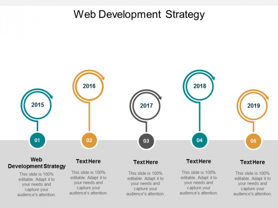 Web Development Strategy Ppt PowerPoint Presentation Gallery Background Image Cpb
