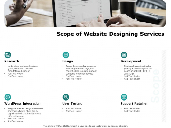 Web Engineering Scope Of Website Designing Services Ppt Professional Topics Pdf Powerpoint Templates
