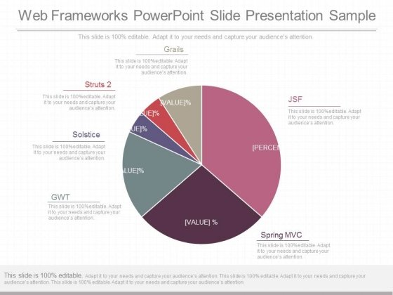 Web Frameworks Powerpoint Slide Presentation Sample