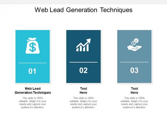 Web Lead Generation Techniques Ppt PowerPoint Presentation Professional Gridlines
