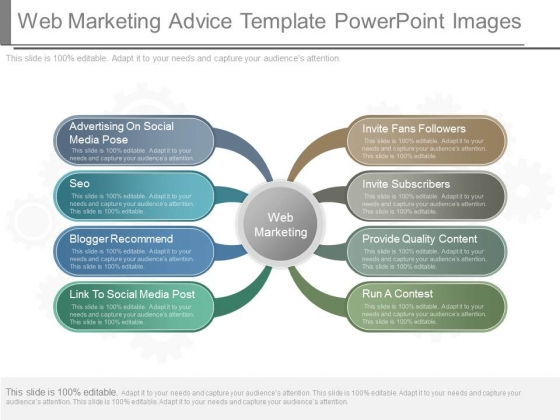 Web Marketing Advice Template Powerpoint Images