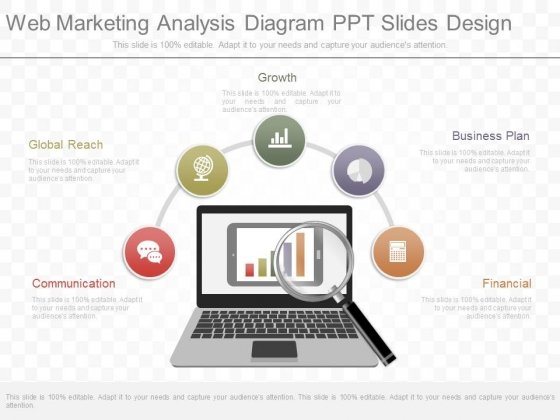 Web Marketing Analysis Diagram Ppt Slides Design