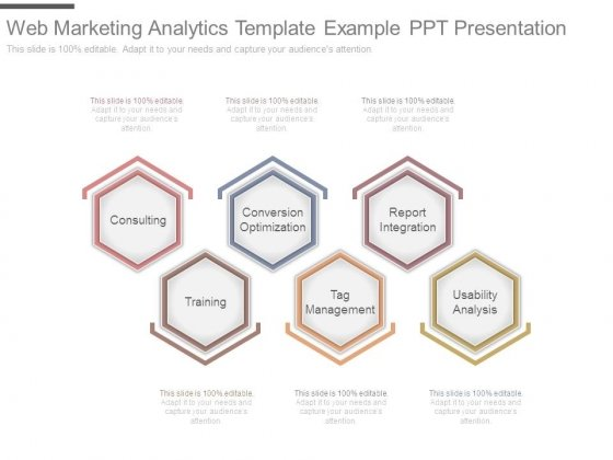 Web Marketing Analytics Template Example Ppt Presentation