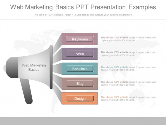 Web Marketing Basics Ppt Presentation Examples