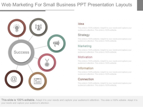 Web Marketing For Small Business Ppt Presentation Layouts