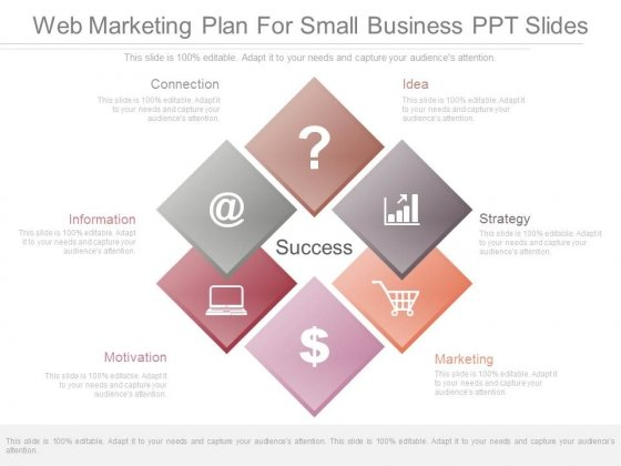 Web Marketing Plan For Small Business Ppt Slides