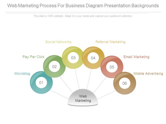 Web Marketing Process For Business Diagram Presentation Backgrounds