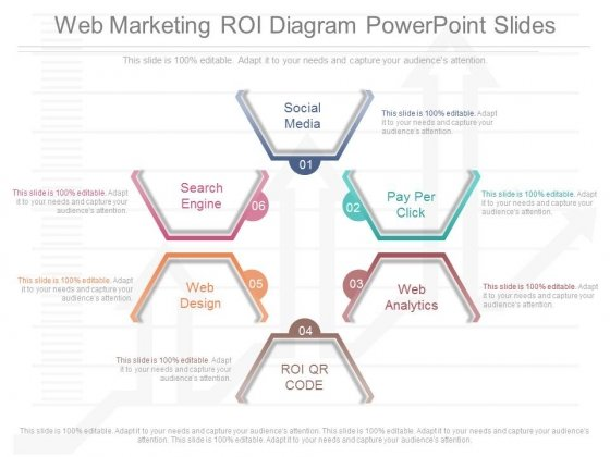 Web Marketing Roi Diagram Powerpoint Slides