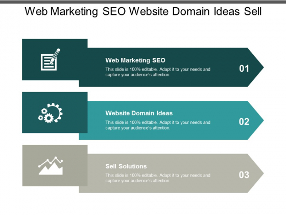 web marketing seo website domain ideas sell solutions ppt powerpoint presentation gallery graphics download