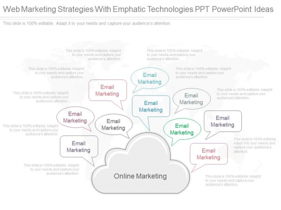 Web Marketing Strategies With Emphatic Technologies Ppt Powerpoint Ideas