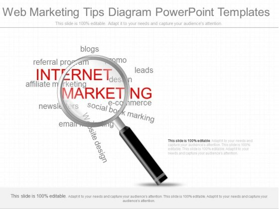 Web Marketing Tips Diagram Powerpoint Templates
