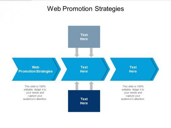 Web Promotion Strategies Ppt PowerPoint Presentation Ideas Diagrams Cpb