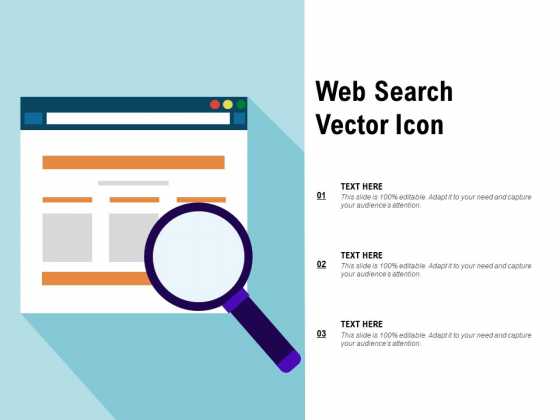 Web Search Vector Icon Ppt PowerPoint Presentation Outline Deck