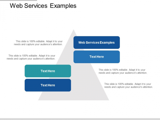 Web Services Examples Ppt PowerPoint Presentation Ideas Show Cpb