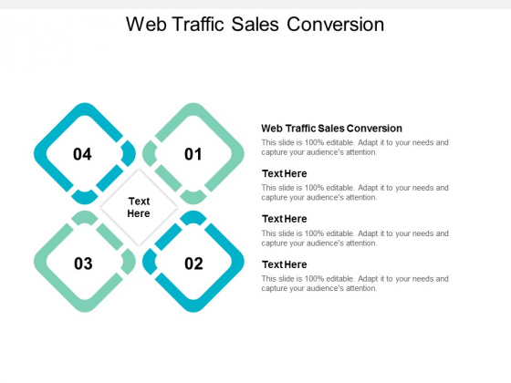 Web Traffic Sales Conversion Ppt PowerPoint Presentation Professional Show Cpb