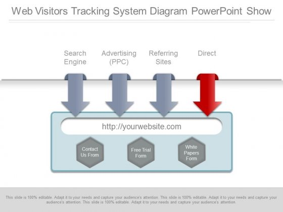 Web Visitors Tracking System Diagram Powerpoint Show