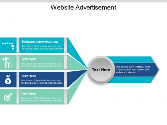 Website Advertisement Ppt PowerPoint Presentation Visual Aids Example File Cpb
