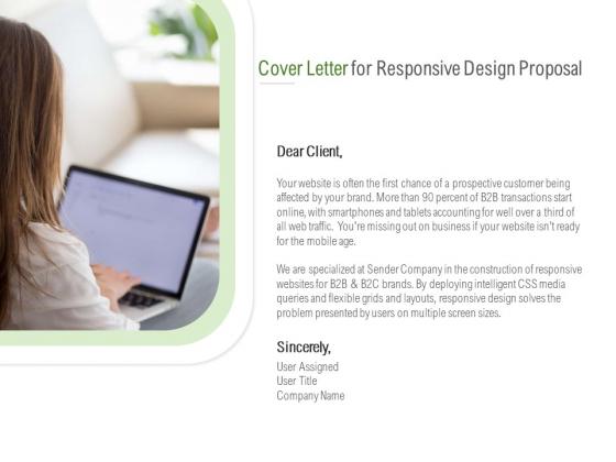 Website Design And Development Cover Letter For Responsive Design Proposal Structure PDF