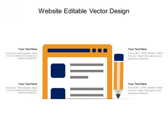 Website Editable Vector Design Ppt PowerPoint Presentation Outline Images PDF