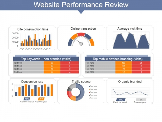 Website Performance Review Ppt PowerPoint Presentation File Visuals