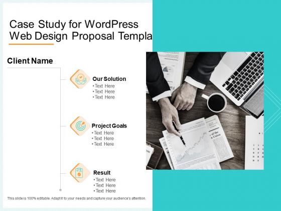 Website Revamp Quotation Case Study For Wordpress Web Design Proposal Diagrams PDF