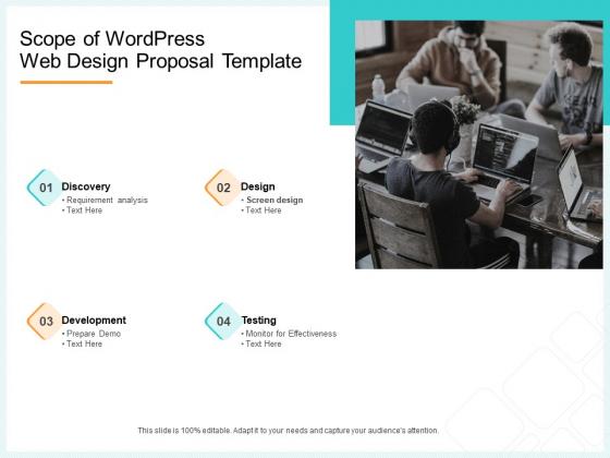 Website Revamp Quotation Scope Of Wordpress Web Design Proposal Formats PDF
