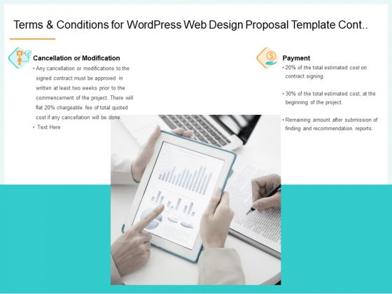 Website Revamp Quotation Terms And Conditions For Wordpress Web Design Proposal Cont Topics PDF