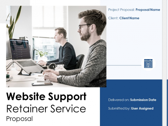 Website Support Retainer Service Proposal Ppt PowerPoint Presentation Complete Deck With Slides