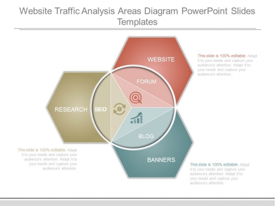 Website Traffic Analysis Areas Diagram Powerpoint Slides Templates
