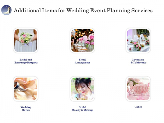 Wedding Affair Management Additional Items For Wedding Event Planning Services Professional PDF