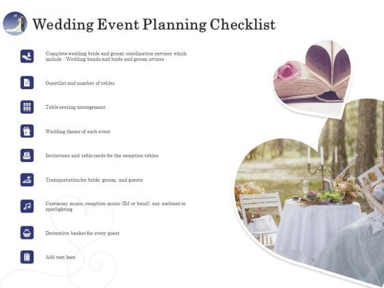 Wedding Affair Management Wedding Event Planning Checklist Guidelines PDF